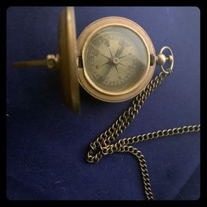 Jewelry - Steampunk working compass and sundial necklace